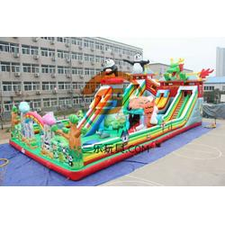 大型儿童充气滑梯蹦蹦床三乐厂家图片