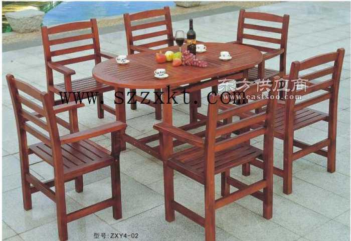 户外休闲家具庭院餐桌椅实木套桌椅图片