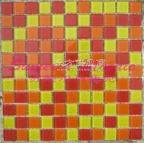 最好建材红色水晶马赛克装饰墙面价格