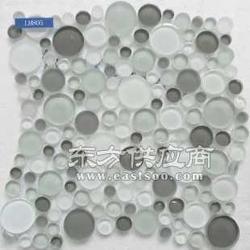 自由石马赛克水晶材质 灰色水晶圆形马赛克图片