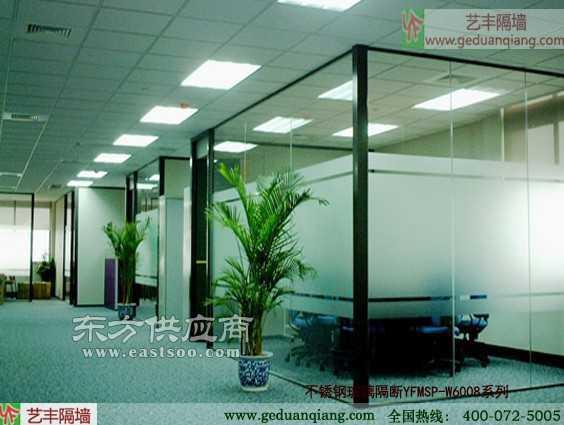 不锈钢玻璃隔断系列磨砂玻璃隔断黑色框架批发