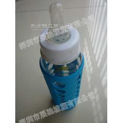 硅胶奶瓶套 奶瓶隔热套图片