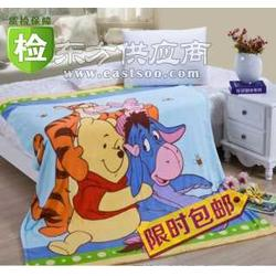 优质学生毛毯热卖儿童毛巾毯卡通图案图片