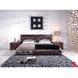 榆木床头柜实木床头柜大宝家具商城网图片