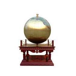 东方紫铜浮雕三奇帝85地球仪图片