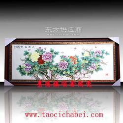 陶瓷画厂家 开业乔迁祝寿礼品陶瓷瓷板画定制图片