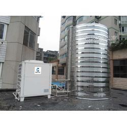 工厂工地专用全自动空气源热泵热水机组安装图片
