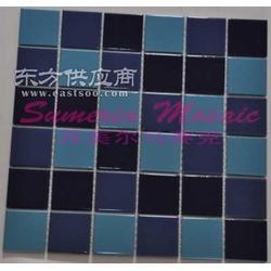 陶瓷马赛克-游泳池48mm陶瓷马赛克厂家直销图片