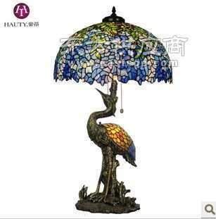 帝凡尼台灯 欧式彩色玻璃灯 客厅灯 古典大气唯美