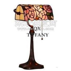 蒂凡尼台灯 银行灯 卧室床头客厅灯饰 玫瑰灯图片