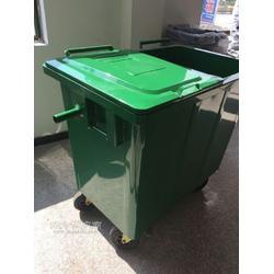 660L铁皮垃圾桶240L挂车垃圾桶图片