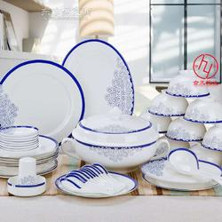 56头陶瓷餐具厂家图片