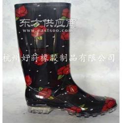 黑色女士雨鞋图片