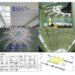 电动天棚帘电机卢立遥控遮阳蓬帘用于玻璃吊顶遮阳棚图片