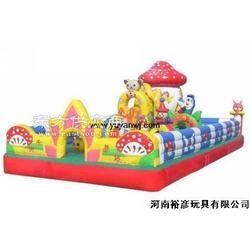 裕彦玩具供应大型充气蹦床图片
