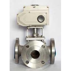 汇源仪表阀门公司生产电动三通四通球阀图片