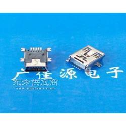 迷你MINI-USB 5P母座全贴板SMT有柱加长针图片