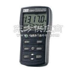 供应台湾泰仕TES-1318白金电阻温度计TES1318双通道温度表图片