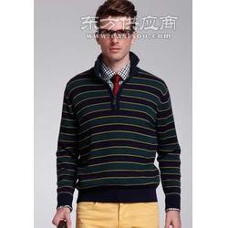 蓝绿条纹羊绒衫图片