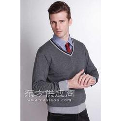 灰 蓝精纺羊绒衫图片