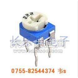 6mm蓝白色卧式微调电阻图片