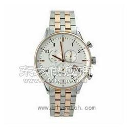 不锈钢间钨钢手表夜光单历手表厂宏利源钟表厂图片
