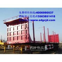 高强度 最便宜 直梁 30英尺 三轴 集装箱框架车图片
