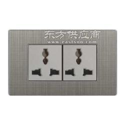 家用118型墙壁开关长方形两位多功能插座图片