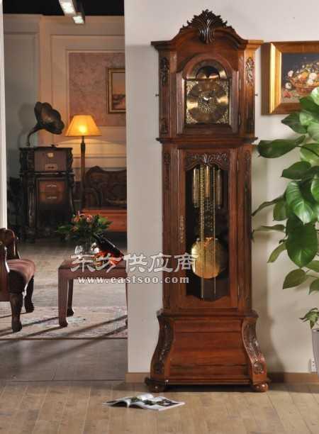 梵尼诗宝玑复古实木欧式落地钟