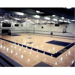 供应穗体木地板室内球场国际篮联羽联认证木地板图片