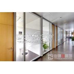 办公室玻璃隔断业明佳YMJ-C86双玻隔断墙图片