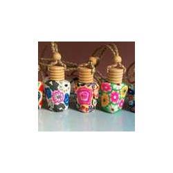 软陶挂件香水瓶-方扁-迪沃工艺品图片