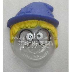 彩印对位吸塑小丑面具 丝印吸塑 面具厂家定制图片