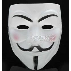 PVC吸塑 彩印吸塑 v字仇杀队面具 面具定做图片