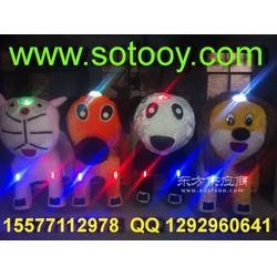 灰太狼儿童毛绒玩具车室外儿童娱乐毛绒动物电动车图片