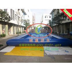 充气泳池 大型充气水池 冲气水池 儿童充气水池图片