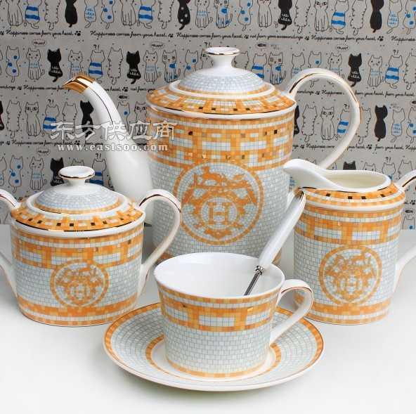 日用陶瓷杯碟套装欧式杯碟套装骨瓷杯骨瓷碟