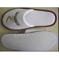 厂家供应一次性拖鞋 绣酒店logo 华夫格拖鞋图片