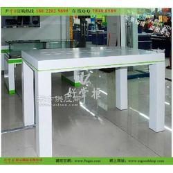 玻璃台面长形体验桌及图片