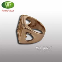 专业不锈钢戒指真空电镀玫瑰金加工耐磨环保图片