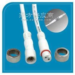 兩芯防水線插頭銅螺帽高品質廠家批量生產圖片