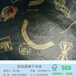 17g拷贝纸单面印刷满版黑色加金色logo图片