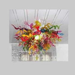 创意家居时尚彩色吹制玻璃艺术吊灯客厅玻璃吊灯图片