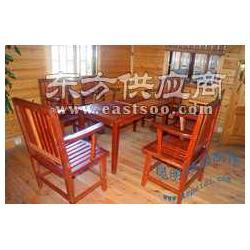 山樟木实木桌椅 户外实木休闲家具图片