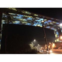 桥梁投影|桥底亮化|水纹投影|动态投影灯图片
