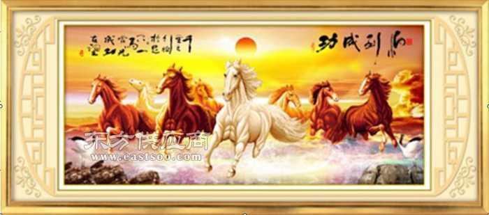 万马奔腾版3d立体十字绣/马到成功版立体十字绣图片