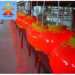 冬瓜型灯笼连体红灯笼进强照明灯笼外壳工艺品图片
