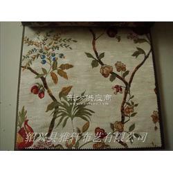 中式窗帘布酒店用的高档窗帘布色织提花窗帘图片