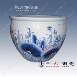 手绘一米陶瓷大缸图片