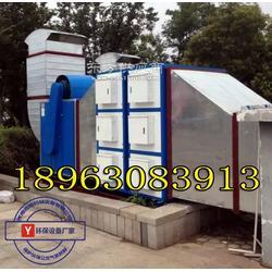 苏州纺织车间油烟处理机械、纺织定型机净化设备图片